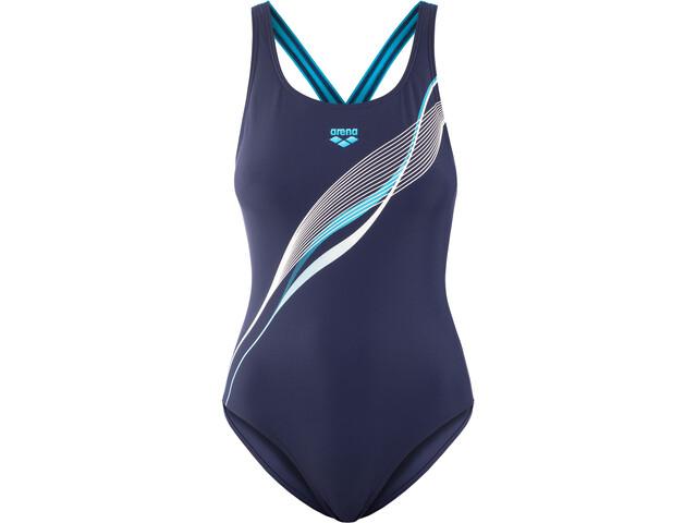 arena Harmonious LB V Back One Piece Swimsuit Women navy/turquoise